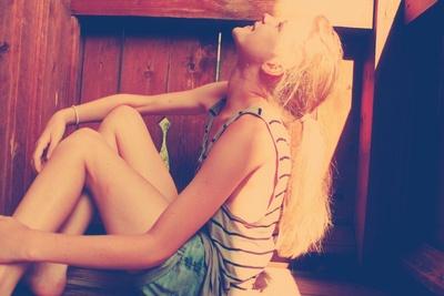 entspanntes girl
