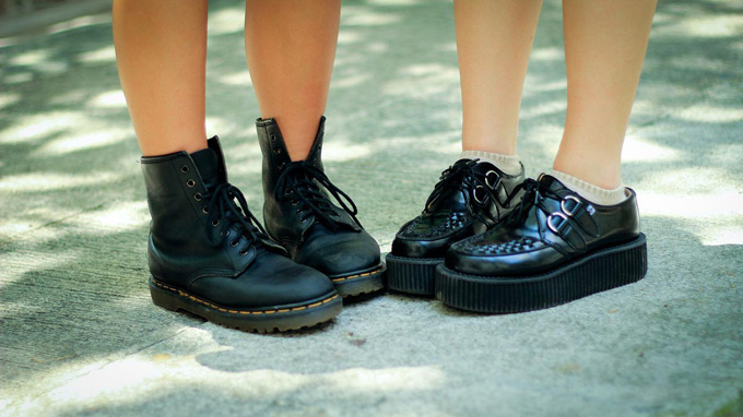 Plateau Schuhe schwarz