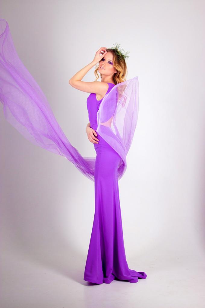 Kleid Lila Frau