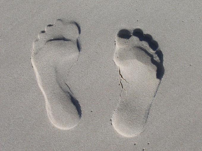 Sand Fußabdruck Füße
