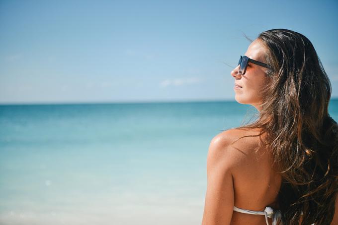 Sonnenbrille Urlaub Frau
