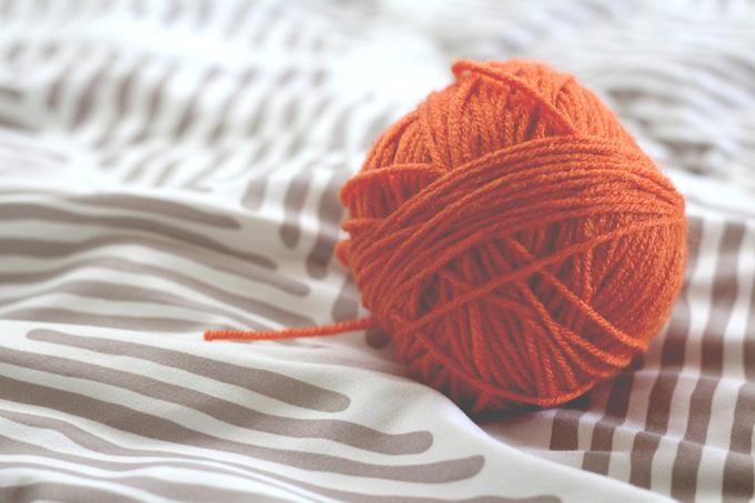 Wolle Wollknäul Orange